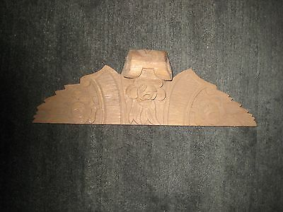Carved Clock Case Hood in Unfinished Walnut-Part for Vintage/Antique Clock Case