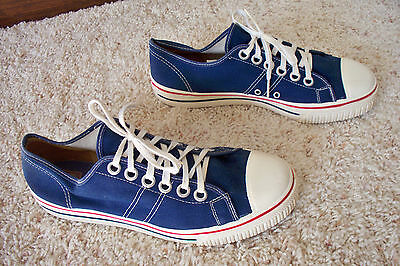 Vintage 60's 70's Era Kmart Men's Blue Canvas Tennis Shoes Sneakers Size 8.5 USA