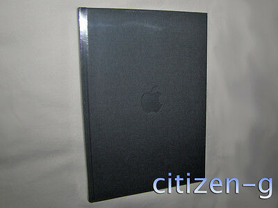 """New Unused APPLE Inc. Gray Linen Book Journal Notebook: 9.5"""" x 6.75"""" with Logo"""