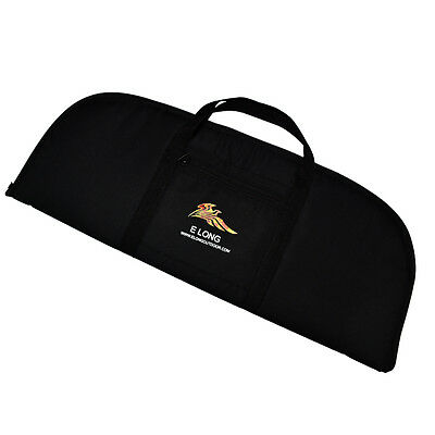 69x27cm Bow Bag with Pouch for Recurve Bows Hunting Archery Bows Case Black