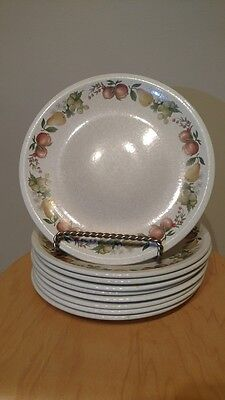 """Lot : 9 Wedgewood 10.5"""" Dinner Plates Quince           England"""