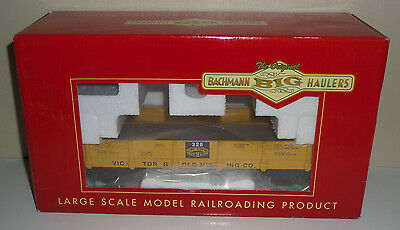 "Bachmann Big Haulers G-Scale 95747 ""victor Gold Mining"" 20' Gondola Car In Ob"