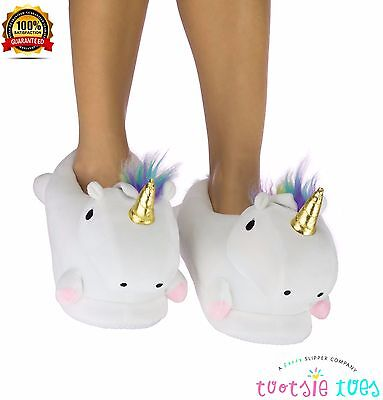 NEW! LED LIGHT-UP UNICORN SLIPPERS for Women & Teens. So Soft, Warm, Cozy, Comfy