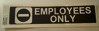 employees only store sticker sign