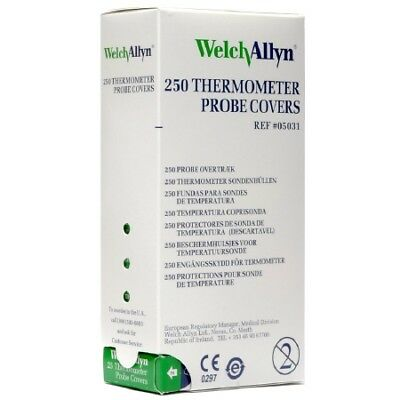 Welch Allyn SureTemp Thermometer Probe Covers 250/box REF:05031 NEW! 2 PACK