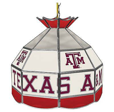 Brand New! Texas A&M University Stained Glass Tiffany Lamp - 16 Inch  Imported