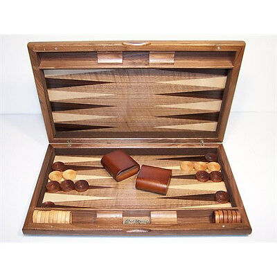 New Dal Rossi 38 cm Walnut Burl Backgammon Board game
