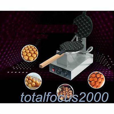 Stainless Steel Electric Egg cake oven QQ Egg Waffle Maker machine 110/220v