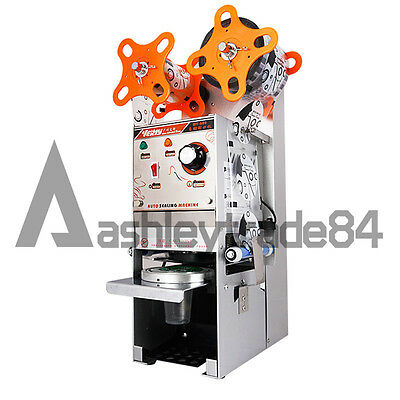 WY-680 Semi-automatic Bubble Tea Cup Sealing machine Juice Cup Sealer 220V