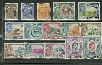 Chipre. MNH **156/70. 1955. Serie completa. MAGNIFICA. Yvert 2012: 115 Euros.