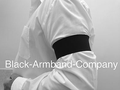 20 x Black Memorial Black Armband - Funeral, Mourning, Military, football