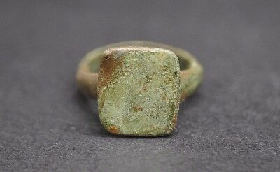 Medieval Bronze Finger Ring 13Th-15Th Century Ad