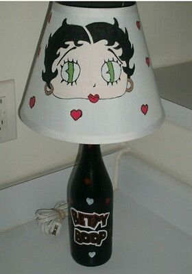 Custom Hand painted betty boop lamp