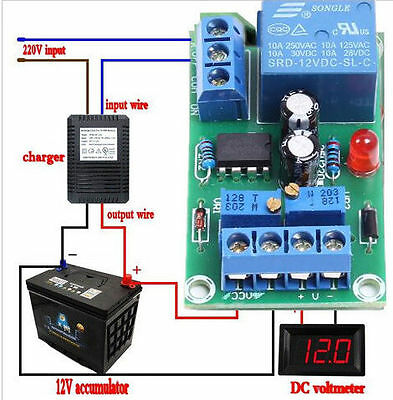12V Charger Module Power Supply Controller Automatic Charging Protection Board K