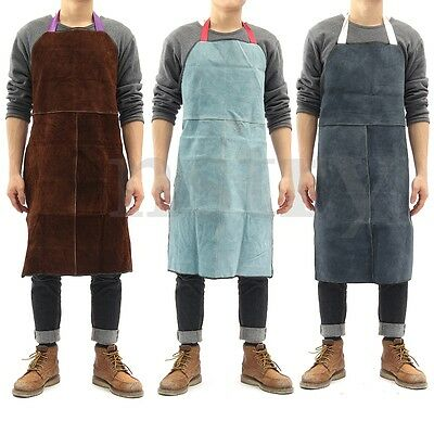 Welder Apron Heat Insulation Cow Leather cowhide Welding Protect Apron AU Stock