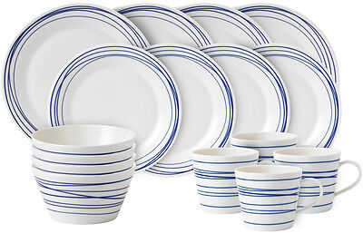 Royal Doulton Pacific 16 Piece Dinner Set (Lines) - New/unused