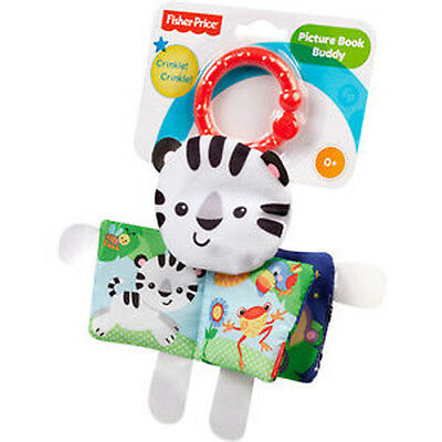 Fisher Price Picture Book Buddy Teether Rattle Brand New Bfl41