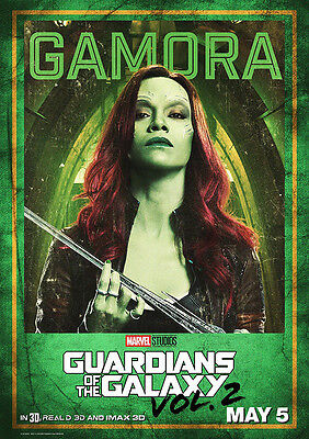 Movie Poster Print: Guardians of the Galaxy Gamora DISCOUNTED OFFERS A3 / A4