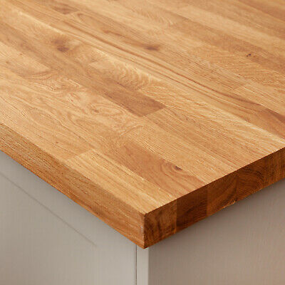 Solid Wood Rustic Oak Timber Kitchen Worktops, Breakfast Bars, Variety of Sizes