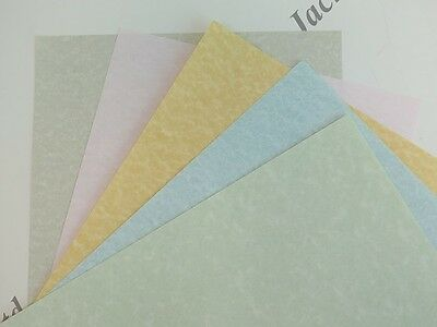 50x Parchment Paper Pastel A4 90gsm Pick of 5 Colours Certificates Arts & Crafts