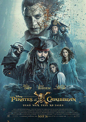 Movie Poster Print:Pirates of the Caribbean 2017 DISCOUNTED OFFERS A3 / A4