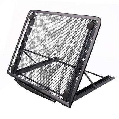 Laptop Stand, Metal Mesh Ventilated Adjustable Art Monitor Stand, Black