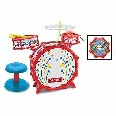 Fisher Price Big Bang Drumset With Lights Stool Included Musical Instrument Toy