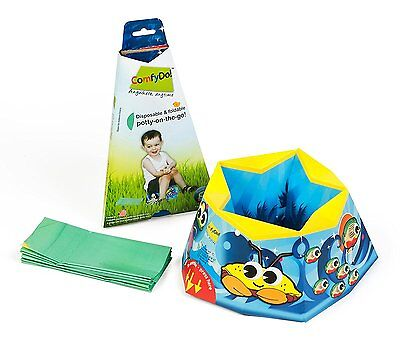 ComfyDo Disposable and Foldable Travel Potty Ocean Blue