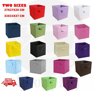 Foldable Storage Box Bookcase Fabric Cube Toy Organiser Collapsible Clothes