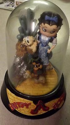 Betty Boop Figurine Franklin Mint Hand Painted Sculpture Somewhere Over The Rain