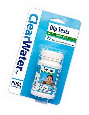 Clearwater Dip Test  for Swimming Pool Water pH Alkaline Chlorine Level Test