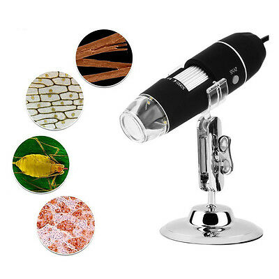 Microscopio Usb Digitale 1000X Pc Notebook Foto Video 8 Led 2.0 Mpx Staffa Micro