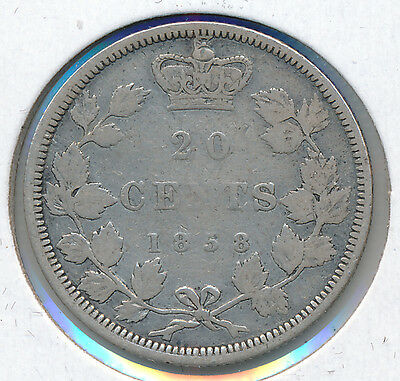 Canada 20 Cents 1858 - VG+