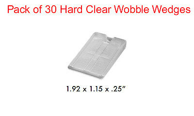 Pack of 30 Hard Clear Wobble Wedges Leveling Shims Standard Restaurant Table