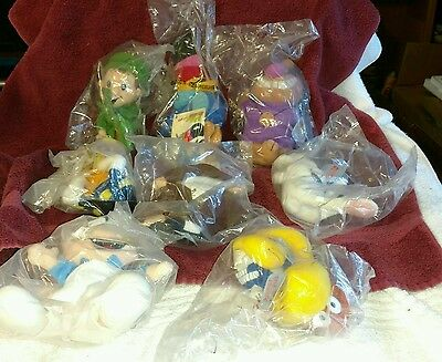 "7 - 1998 General Mills Big 9"" Plush Breakfast Pals Plush Figures 1 1997 Kelloggs"