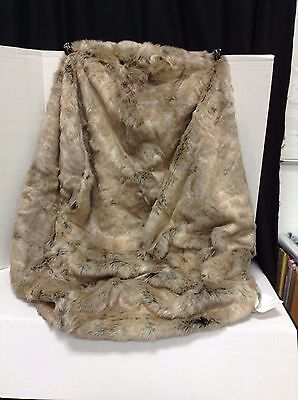 Pottery Barn PBTeen SMALL Beanbag Chair Replacement Slipcover WOLF Faux Fur