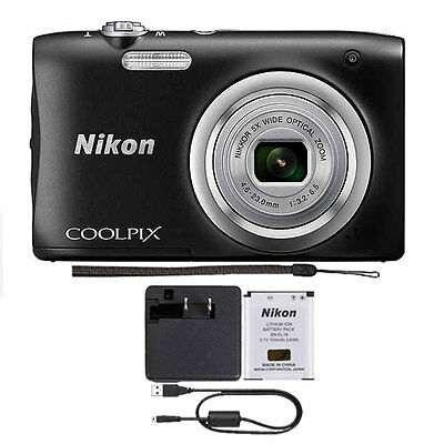 Nikon Coolpix A100 20MP Digital Camera (Black)
