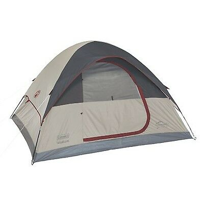 4-Person Traditional Camping Tent Coleman Camping & Hiking Outdoors New