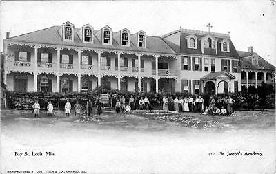 Bay St St Mississippi Old Photo Joseph's Academy Building Louis