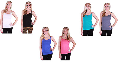NEW Ladies' Felina 2-Pack Pima Cotton Camisole - SMALL - VARIOUS COLORS