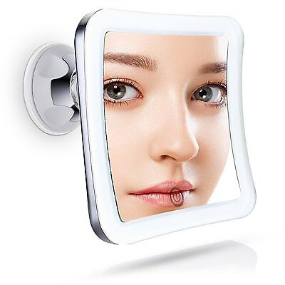 Sanheshun Travel Makeup Mirror 10X Magnifying LED Lighted Compact Mirror with Su