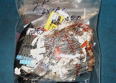 Apprx 1000Pc Assorted Axial Ferrite Bead Lot
