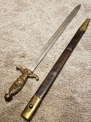 Antique 19th C. Victorian Masonic Knights Templar M1832 Artillery Short Sword KT