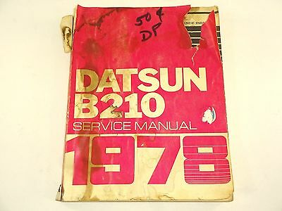VTG - USED 1978 Datsun B210 Service Shop Reapair Manual (well used)