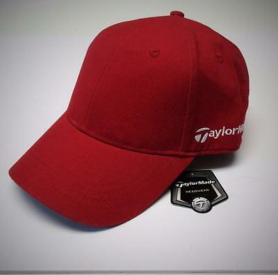 NEW Mens TaylorMade Custom Core Cotton Twill Structured red golf cap OSFA