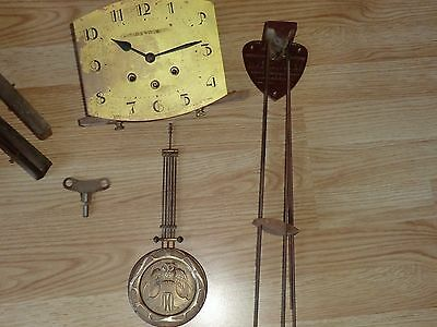 carillon westminster no odo 8 marteaux 8 tiges pendule ancienne old clock cluong
