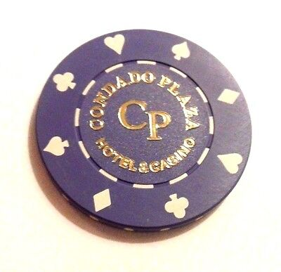 CONDADO PLAZA Casino PURPLE Roulette Poker Chip SAN JUAN Puerto Rico Bud Jones