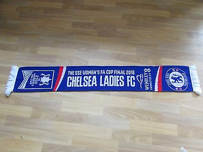 Official CHELSEA Ladies FC Womans SSE FA Cup Final 2016 Wembley FOOTBALL Scarf