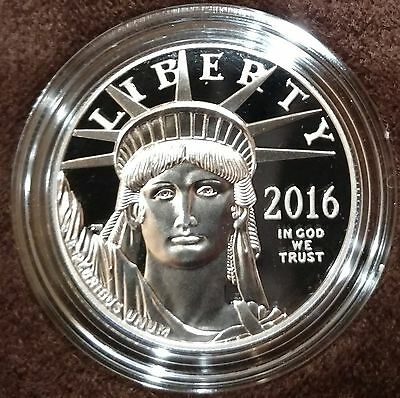 2016 US Mint 1 oz Proof Platinum Eagle with Box and COA