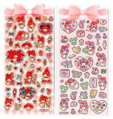 Sanrio Original My Melody Stickers Sticker Sheet LOT Kawaii Japan